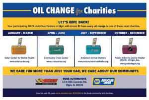 Oil Change for Charity 2016
