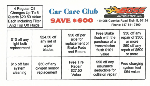 boss automotive car care card front