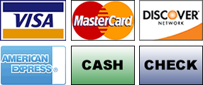 Boss Auto accepts Visa, MasterCard, Discover, American Express, Cash and Checks